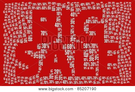 Big Sale in word collage