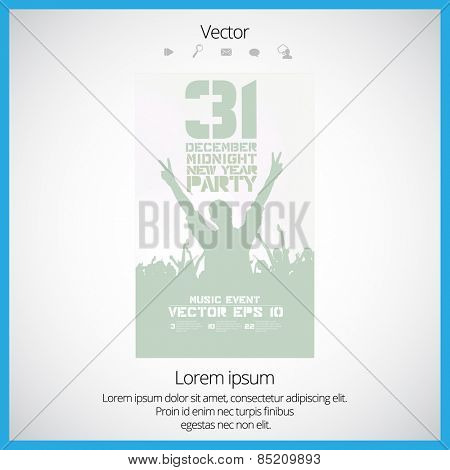Concert. Vector illustration. Poster