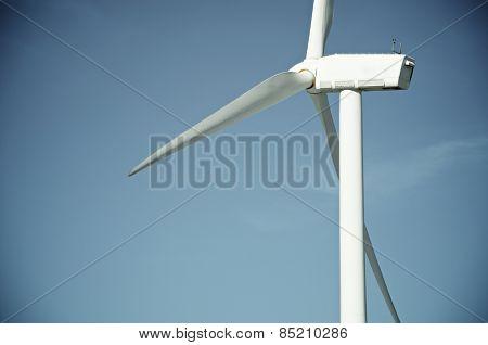 Windmill for electric power production, Maranchon, Guadalajara Province, Castilla La Mancha, Spain