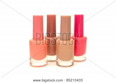 Nail Polish Vertically Isolated Over White