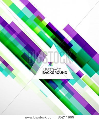 Abstract flyer brochure template design background, simple geometric shapes on white, straight lines and blocks