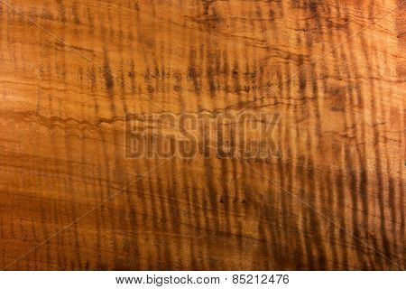 Antique wood surface with beautiful figured grain.Wood has tiger stripe or curly stripe grain. Sharp to the corners.