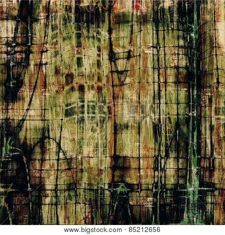 Old ancient texture, may be used as abstract grunge background. With different color patterns: brown; gray; green; black