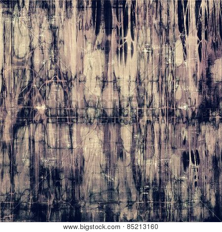 Vintage aged texture, colorful grunge background with space for text or image. With different color patterns: brown; gray; purple (violet)
