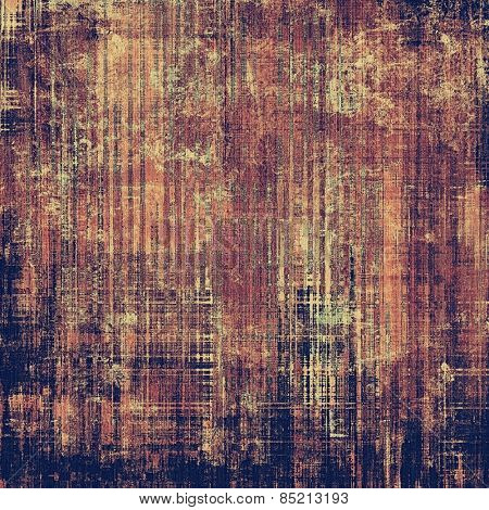 Textured old pattern as background. With different color patterns: yellow (beige); brown; gray; purple (violet)