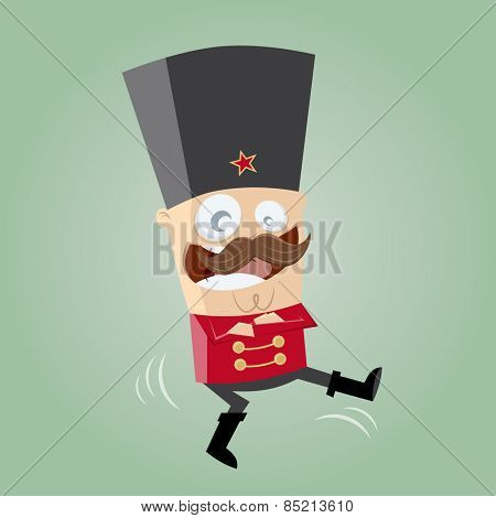 funny Russian Cossack dancer