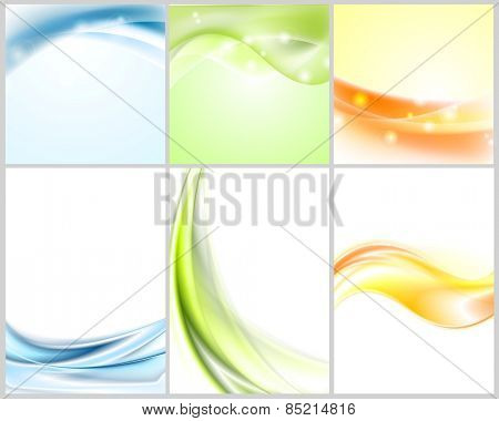 Bright shiny wavy backgrounds. Vector illustration eps 10