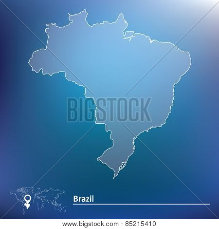 Map of Brazil - vector illustration