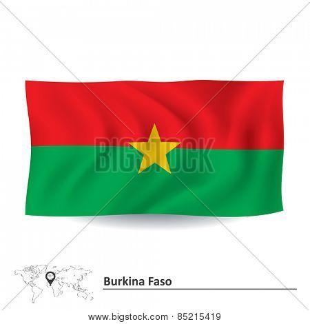 Flag of Burkina Faso - vector illustration