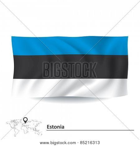Flag of Estonia - vector illustration