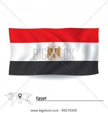 Flag of Egypt - vector illustration