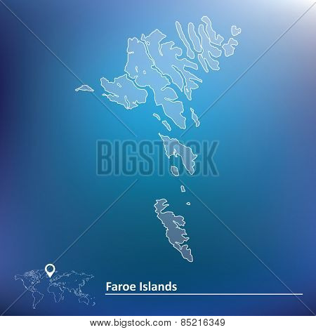 Map of Faroe Islands - vector illustration