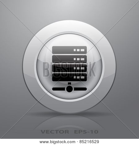 Computer Server icon, vector illustration