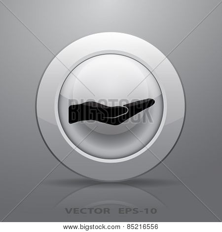 Holding palm icon, vector illustration
