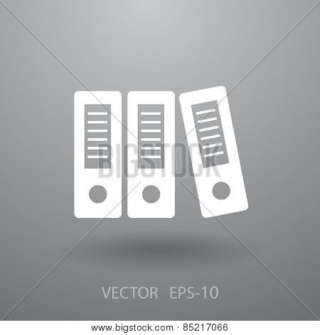 Row of binders icon, vector illustration