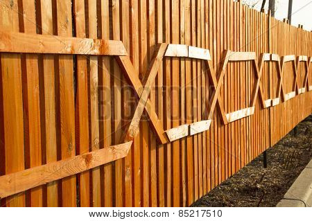 Beautiful wooden fence from the bar