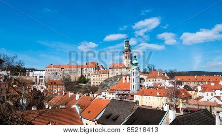 Ceske Budejovice tower with wide angle