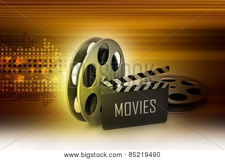 Film Reels and Clapper board