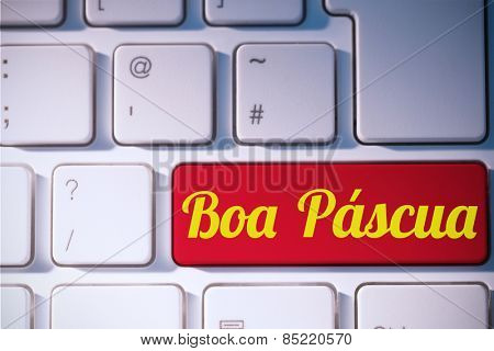 boa pascua against red key on keyboard