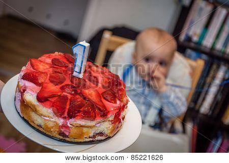 Little boy 1st birthday