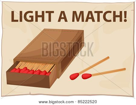 Close up a box of matches