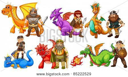 Viking tribes and many dragons