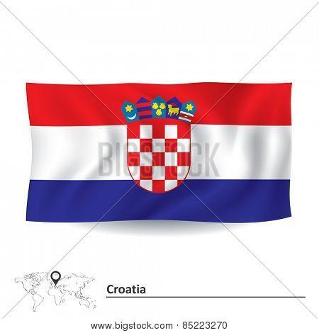 Flag of Croatia - vector illustration