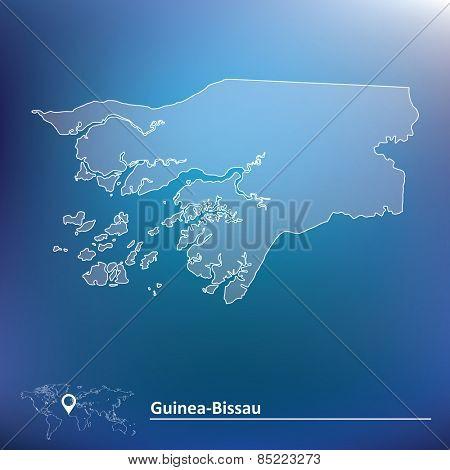 Map of Guinea-Bissau - vector illustration
