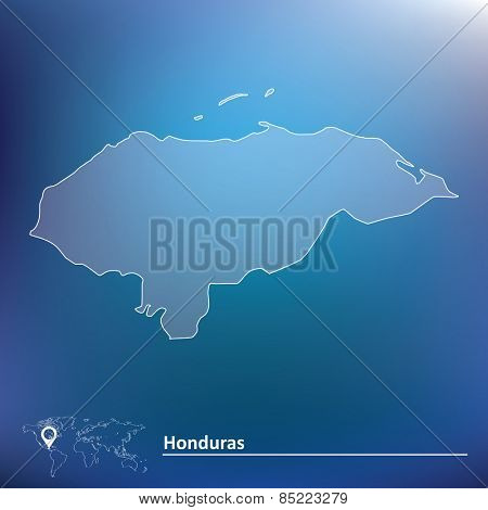 Map of Honduras - vector illustration