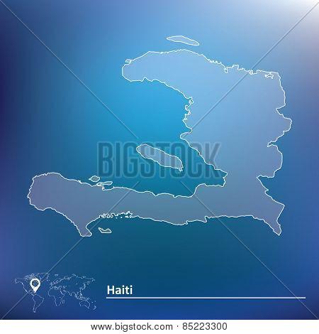 Map of Haiti - vector illustration