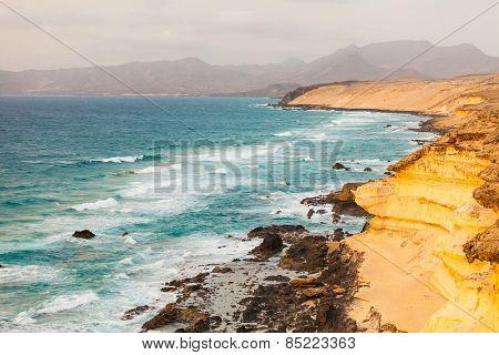 Atlantic ocean coast on Fuerteventura