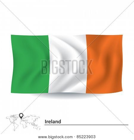 Flag of Ireland - vector illustration