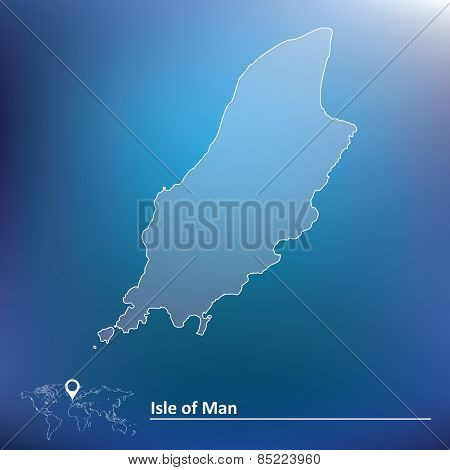 Map of Isle of Man - vector illustration