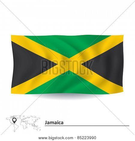Flag of Jamaica - vector illustration