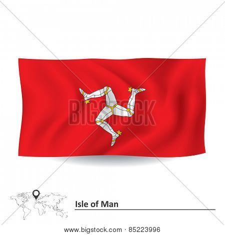Flag of Isle of Man - vector illustration