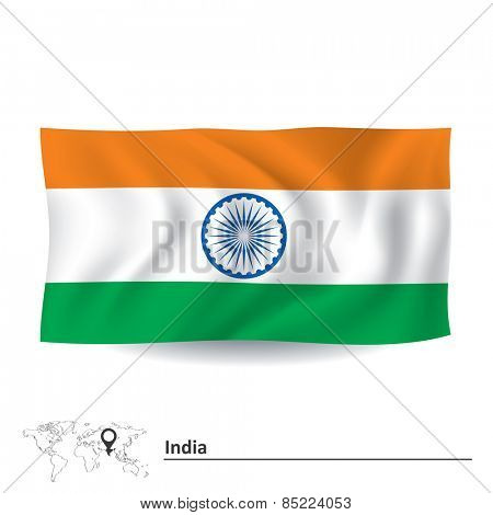Flag of India - vector illustration