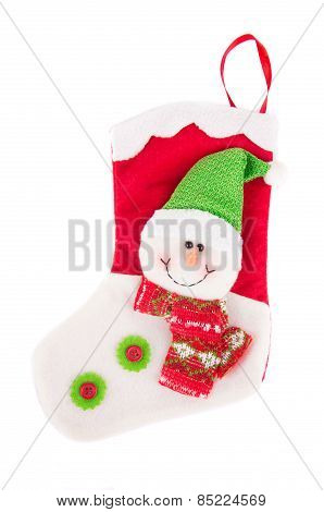 Decorative christmas sock