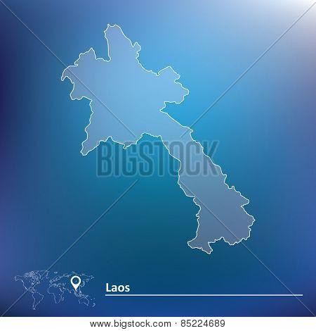 Map of Laos - vector illustration