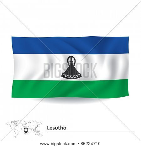 Flag of Lesotho - vector illustration
