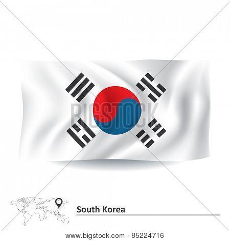 Flag of South Korea - vector illustration
