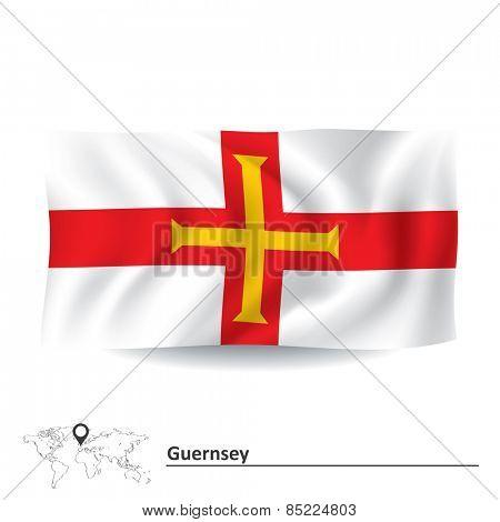 Flag of Guernsey - vector illustration