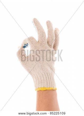 protective glove shows sign ok