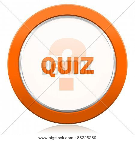 quiz orange icon
