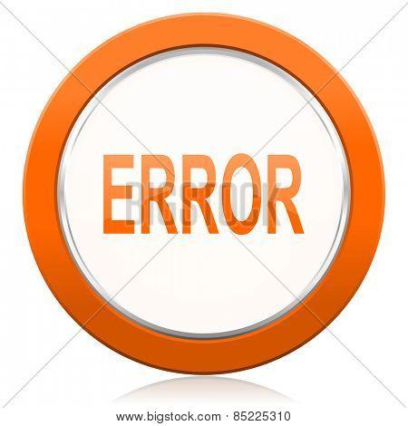 error orange icon