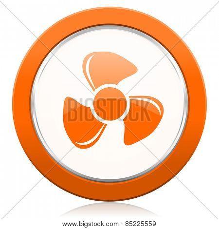 fan orange icon