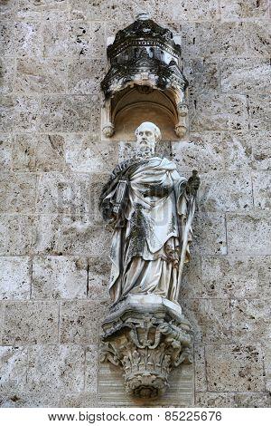 MARIJA BISTRICA, CROATIA - OCTOBER 26: Saint Paul, basilica Assumption of the Virgin Mary in Marija Bistrica, Croatia, on October 26, 2013