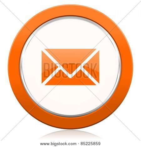 email orange icon post sign