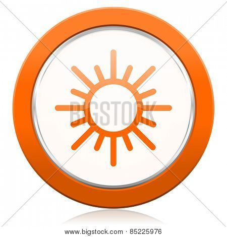 sun orange icon waether forecast sign