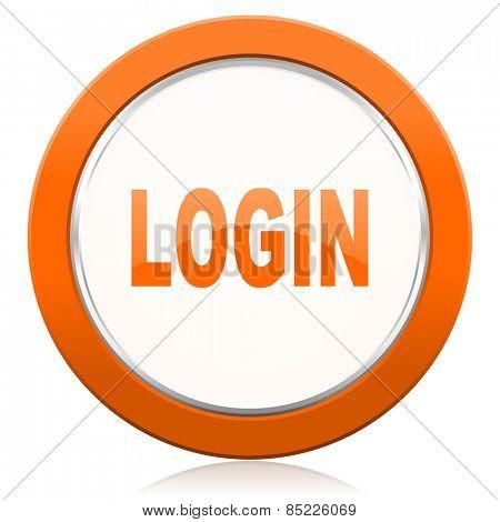 login orange icon