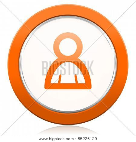 person orange icon